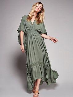 Megan Williams || FP Endless Summer The Luciana Kaftan (Washed Green)