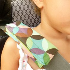 Protect your little one's neck with a seat belt cover. Quick and easy tutorial.