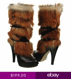 d19c956ffcfed UGG Australia Foxley Boots Black Fur Leather All Sizes  450 New in Box  1001320