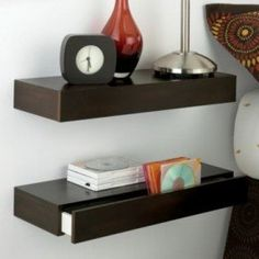 Floating Shelf With Drawer - Foter