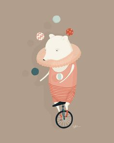 Danika Puts on a Show Print by Creature Comforts