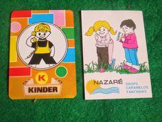 Sonho Antigo: calendários publicitários Kinder / Drops caramelos...