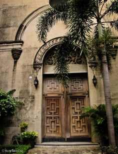 A side entrance to the Manila Cathedral in Intramuros. Intramuros, Manila, Filipino, Entrance, Cathedral, Architecture, Painting, Travel, Art