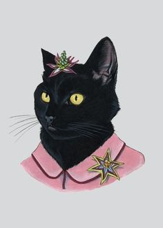 Black Cat Print — Assembleshop digital archival print created from original pen and ink drawing by Ryan Berkley Illustration. Animal Art Prints, Cat Art Print, Animal Drawings, Art And Illustration, Animal Illustrations, Crazy Cat Lady, Crazy Cats, Black Cat Art, Black Cats