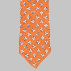 Drake's - Silk/Linen Chevronne Printed Tie by Simon Skottowe Tie Colors, Colours, Summer Suits, British Style, Drake, Blue Denim, Affair, Dressing