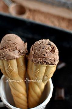 Lody waniliowe i czekoladowe bez maszyny Food And Drink, Low Carb, Ice Cream, Snacks, Chocolate, Health, Sweet, Recipes, Organize