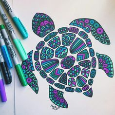 Shared by Find images and videos about art ~ drawings on We Heart It - the app to get lost in what you love. Doodle Art Drawing, Mandala Drawing, Art Drawings Sketches, Easy Drawings, Flower Drawings, Zen Doodle, Sharpie Drawings, Sharpie Doodles, Sharpie Art