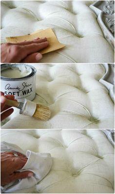 pintar tejidos con Chalk Paint paso a paso