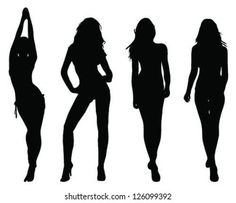 Silhouettes Beautiful Girls 2 Vector Stock Vector (Royalty Free) 126099392 Types Of Vectors, 2 Girl, Woman Silhouette, Vector Art, Vector Stock, Fashion Models, Royalty Free Stock Photos, Illustration, Artist