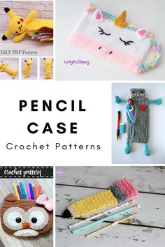Send the kids back to school with these fun, one-of-a-kind, crochet pencil cases or pencil pouches! Fin the pencil case crochet patterns here! Crochet Wallet, Crochet Gifts, Cute Crochet, Crochet For Kids, Crochet Toys, Knit Crochet, Crochet Headband Free, Chunky Crochet, Headband Pattern
