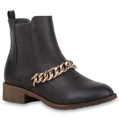 Rockige Chelsea Boots mit Kette von stiefelparadies.de