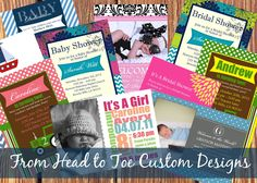 The Funky Monkey: From Head to Toe Custom Designs: Any item of your choice {Rafflecopter Giveaway}