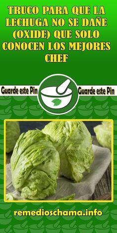 TRUCO PARA QUE LA LECHUGA NO SE DAÑE (OXIDE) QUE SOLO CONOCEN LOS MEJORES CHEF. #truco #lechuiga #oxide #chef #salud #binestar