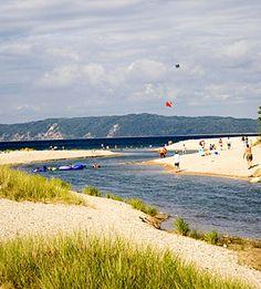 Platte River, Michigan. Great place for a dip. Fun tubing river!