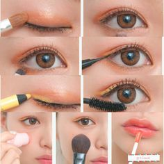 A nice peachy yellow color pop, perfect for brown eyes!