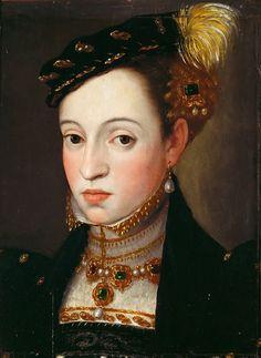 Giuseppe Arcimboldi attrib. Archduchess Magdalena of Austria, circa1563. Kunsthistorisches Museum