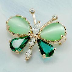swarovski crystal butterfly brooch