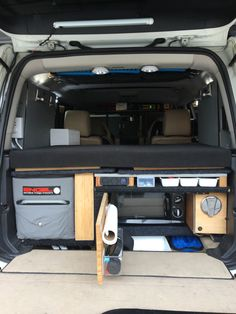 Land Rover LR3 camper. Built in microwave, sleeping platform, fridge and porta-pottie (in center passenger seat) pressurized 16 gallon freshwater system/shower, 1500w pure sine inverter, 155ah aux batteries, food and clothing cabinets, 200w solar panels. Camper Fridge, Suv Camper, Camper Van, Land Rover Discovery Off Road, 4x4, Jeep Camping, Built In Microwave, Solar Panels, Offroad