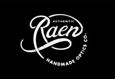 Type and lettering for RAEN Optics, a boutique eyewear company in Southern California by DAN CASSARO.