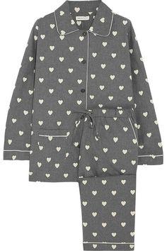 heart-print pajama set / chinti and parker