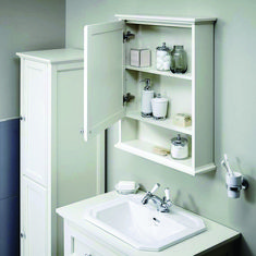 Savoy Old English White mirror cabinet image 3 Wall Mounted Bathroom Cabinets, Bathroom Mirror Cabinet, Mirror Cabinets, Design Your Home, House Design, Decorating Tips, Interior Decorating, Bathroom Furniture Uk, White Mirror