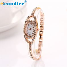 >> Click to Buy << Fashion Women Lady Bracelet Stainless Steel Crystal Quartz Watch Creative #Affiliate