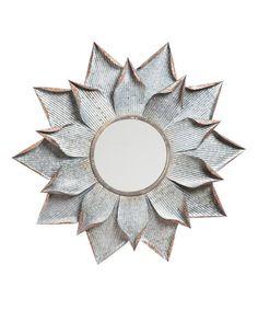 Look what I found on #zulily! Layered Flower Wall Mirror #zulilyfinds