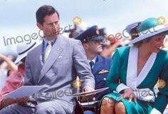 January 1988:  Prince Charles & Princess Diana in Australia.   Photo by Tim Anderson-alpha-Globe Photos