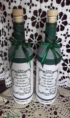 Szülőköszöntő ajándék (Monik68) - Meska.hu Bottle, Wedding, Decor, Valentines Day Weddings, Decoration, Flask, Weddings, Decorating, Marriage