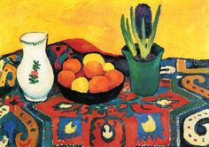 Still life hyacinths carpet - August Macke - WikiArt.