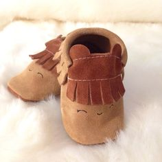 Adorable baby moccs #madeinfrance by Elsa Mocassins. Limited edition available at Frenchblossom.com