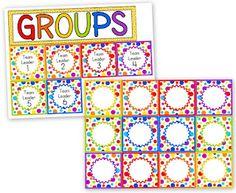 Classroom Freebies: Rainbow Dots Grouping Cards