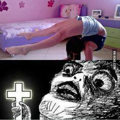 hahahahahaha his little shine cross hahahaha