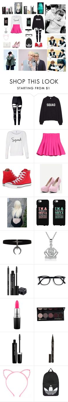 """""""Jin and Rap Monster."""" by bulletproof-wolfie on Polyvore featuring WithChic, Converse, Disney, Rodial, MAC Cosmetics, Marc Jacobs, Smith & Cult, Topshop and Yves Saint Laurent"""