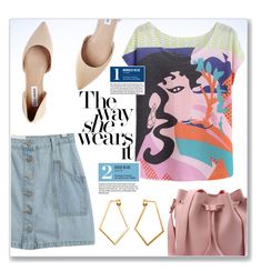 """""""Printed Tee"""" by christinacastro830 ❤ liked on Polyvore featuring Chicnova Fashion, Steve Madden, Garance Doré and Dutch Basics"""