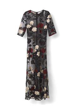 Ganni Festive | Simmons Maxi Dress, Black