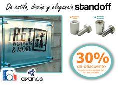 Soportes de aluminio para letreros STANDOFF en ¡Viernes de Descuento!