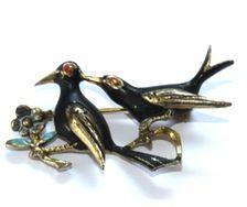 Vintage brooch birds - Petra Reijrink