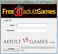 Free3DadultGames Account Password Hack