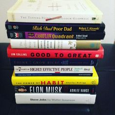 Top 10 Business Books: -Think and Grow Rich -Rich Dad Poor Dad -4-Hour Workweek -7 Habits of Highly Effective People -Third Circle Theory -Good to Great -Elon Musk/Steve Jobs -The Power of Habit -The Tipping Point -Start With Why . . Check the blog post of our top 10 business books  . Link in the bio #TerraTopTens