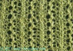 Asynchronous Lace 2 - Knittingfool Stitch Detail