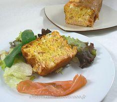 Cake au saumon fumé, courge et chèvre | Une cuisine pour Voozenoo