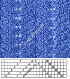 Узор 716 | каталог вязаных спицами узоров