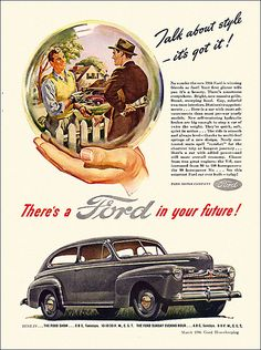 1946 Ford Automobile Ad