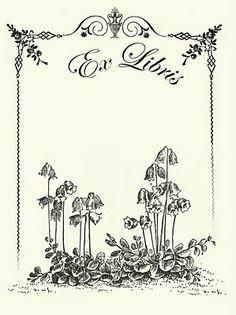 Flower Bookplate