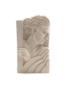 Victoria Ellis 'Reflections' a Hand Carved Double-Sided Ceramic Sculpture, 2015 Motif Art Deco, Art Deco Bar, Art Deco Lamps, Art Deco Home, Art Deco Design, Design Design, Stone Sculpture, Sculpture Clay, Ceramic Sculptures