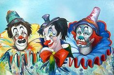 Louis Spiegel vintage clown painting