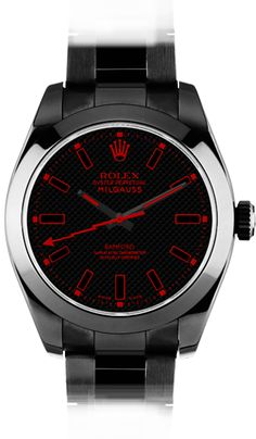Rolex Milgauss SE Stealth Red by Bamford Watch Dept.