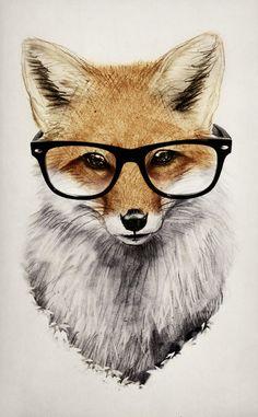 Group of: Mr. Fox Art Print by Isaiah K. Stephens | Society6 | We ...