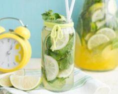 Citronnade aux deux citrons à la menthe pour régime citron